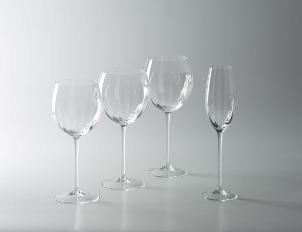 Gatsby red wine 2 glass crystal H 24,5 D 10,5 cm