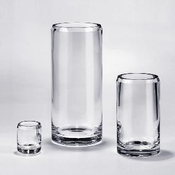 Salvatore vase/tumbler crystal H 1o D 8 cm