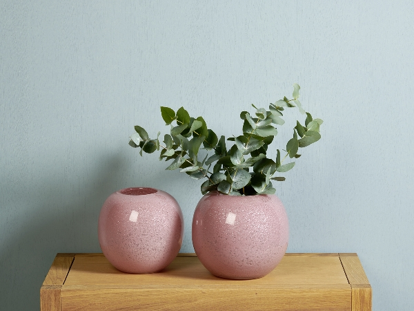 Cassela Vase , heather, glass with coppernet