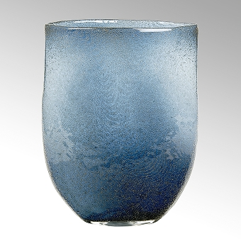 Perugino vase, oval, denim