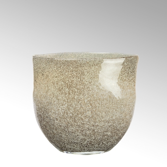 Perugino vase, oval, greige