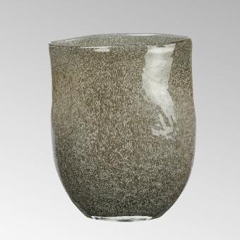 Perugino vase, oval, anthracite