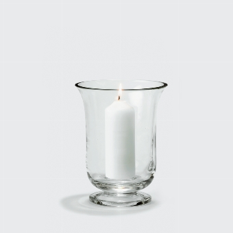 Mallorca stormlantern clearglass H 19 D 15 cm