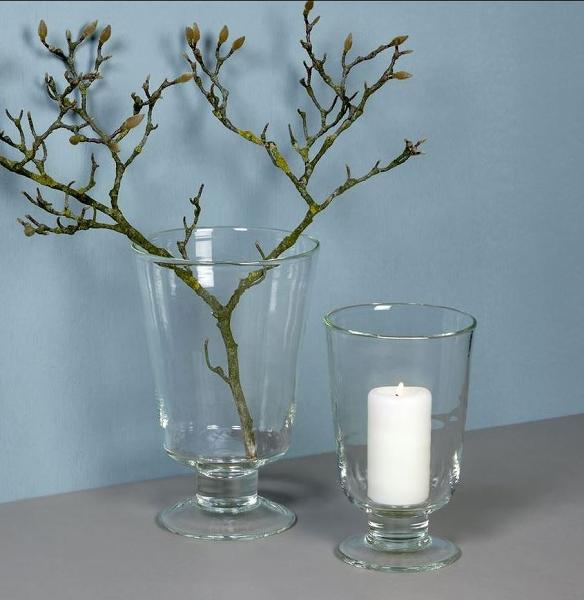 Gerona stormlight/vase H31 D18 cm, clear glass