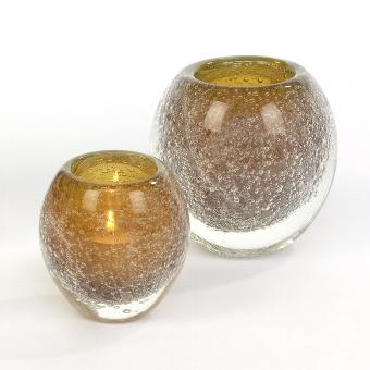 Salviato stormlight/ vase H10 D9 cm amber