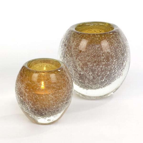 Salviato stormlight/vase H12 D12 cm amber