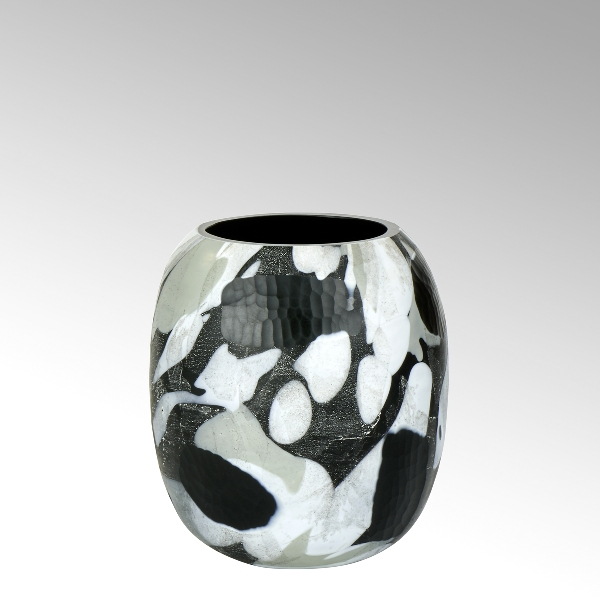 Björn glass vase black vintage small