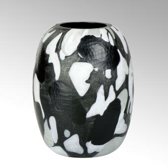 Björn glass vase black vintage large