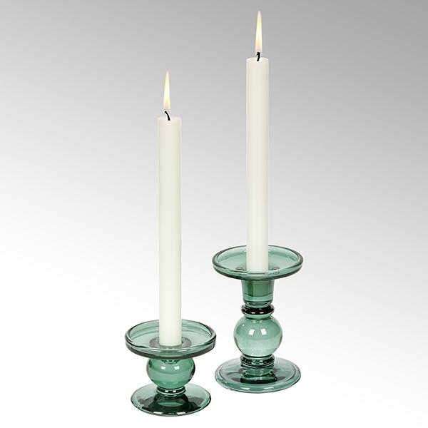Andratx candleholder glass, salvia green