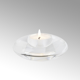 Kyo tealight holder crystall glass , clear