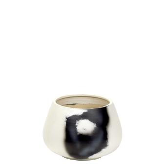 Keiichi brush vessel, ivory/ black