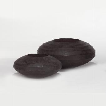 Sansibar vessel/planter charcoal H 16 D 35 cm