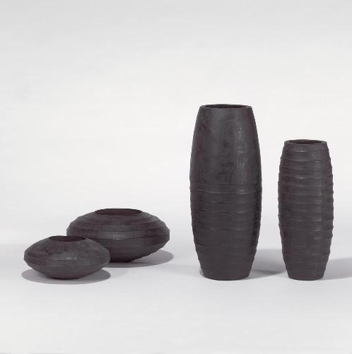Sansibar vessel/planter charcoal H 71 D 29 cm