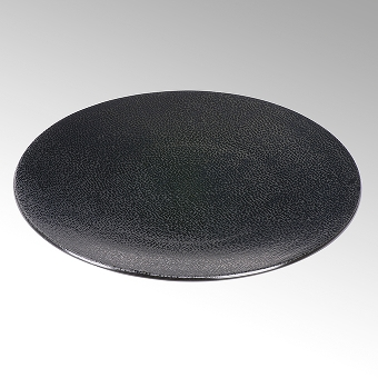 Kaori plate D34,5 black metallic/ray stoneware