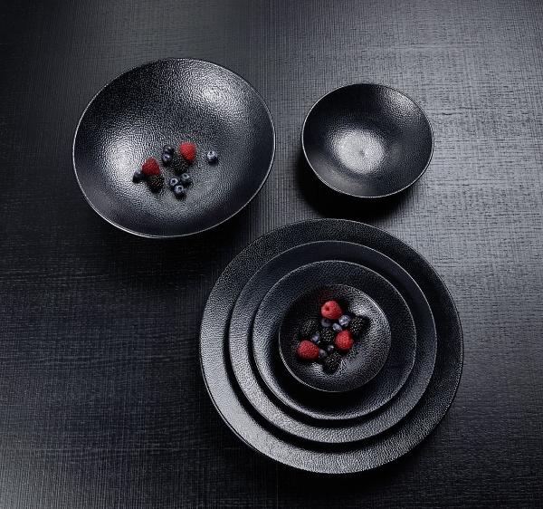 Kaori bowl D30 black metallic/ray stoneware