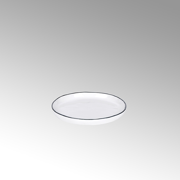 Piana plate white with basalt-grey rim d 13,5 cm
