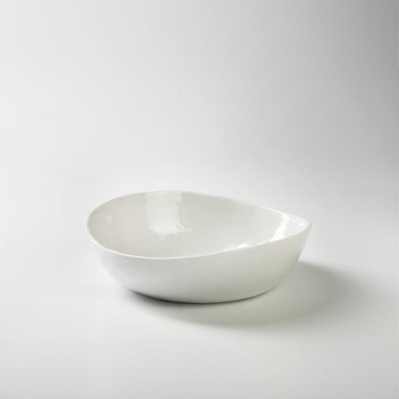 Piana bowl porcelain, white Dia 20.5 cm, H 6 cm