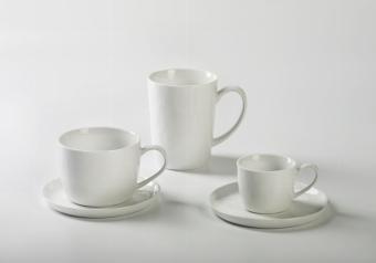 Piana espresso cup porcelain, white H 5 cm,