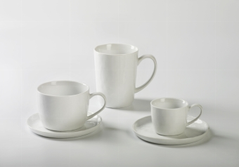 Piana coffee/tea cup porcelain, white H 7 cm,