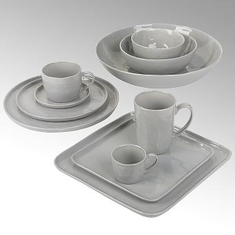 Piana plate, round, stoneware,grey Dia13.5 cm