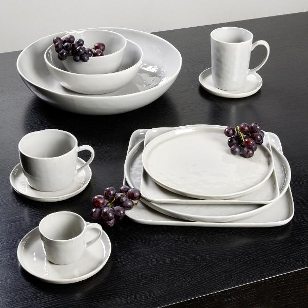 Piana plate, round, stoneware, grey Dia 27 cm