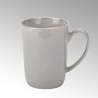 Piana mug with handle, stoneware,grey,