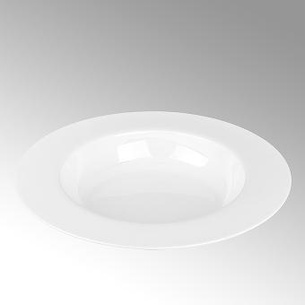 Serene, pasta plate, round,