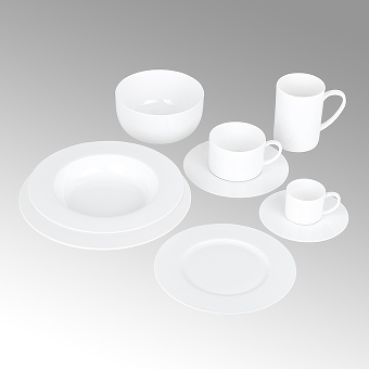 Serene, cereal bowl, round,