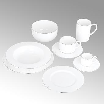 Serene, breakfast plate, round,