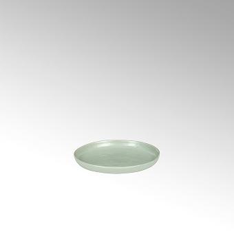 Piana plate, round, stoneware,celadon matt