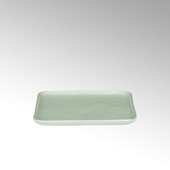 Piana plate,square, stoneware, celadon matt,