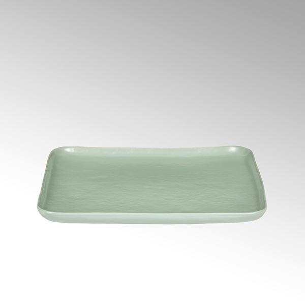 Piana plate,square,stoneware,celadon matt,27x27cm