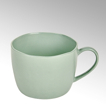 Piana coffee/tea cup, stoneware, celadon matt,
