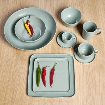 Piana mug with handle, stoneware,celadon matt,