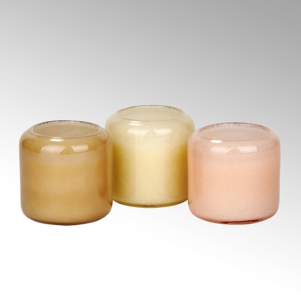 Emanuelle glass H 10,5 D 10,5 cm, coral