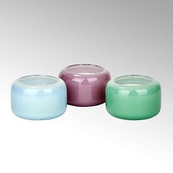 Emanuelle glass, H 8 cm D 13 cm, blue