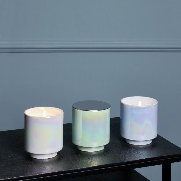 Editta fragrance candle, D 8 cm, H 10 cm, limone