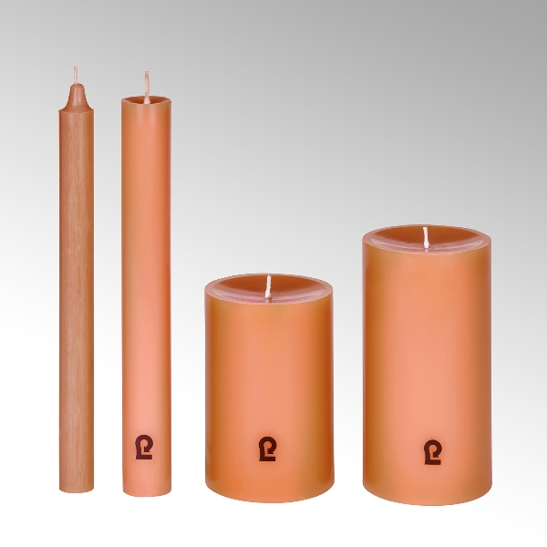 candle, round,ginger, H12cm, D8cm