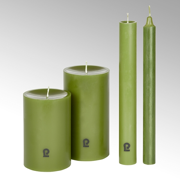 candle, round, spruce H25 D 2,1 cm