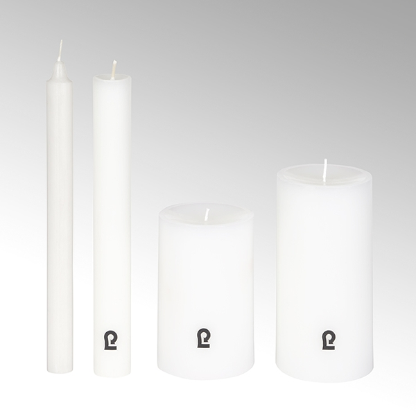 candle, round, white, H24 cm, D 3 cm