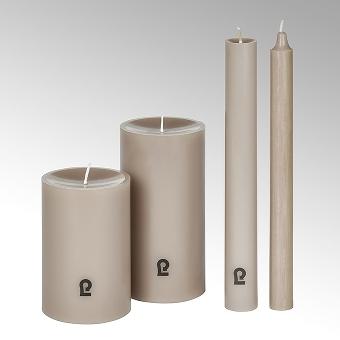 candle, round, pebble, H24 cm, D3 cm