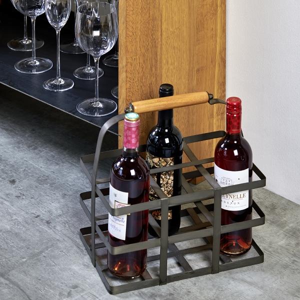 Pisa bottle basket for 6 bottles 32x21x33cm