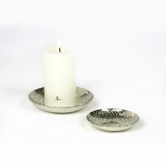 Jamal candle coaster nickel-plated