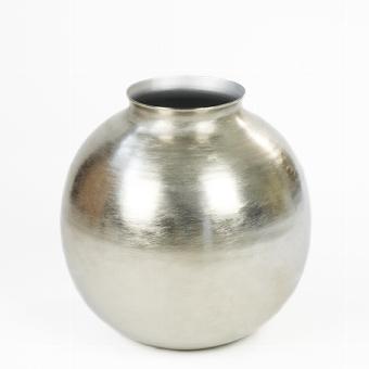 Dongola vase brushed aluminium,