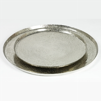 Masirah tray nickel plated hammered D60 H2cm