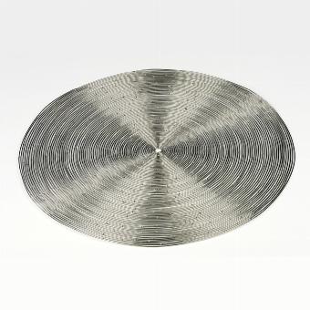 Ilot placemet round D 38 cm , nickel