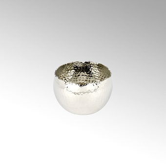 Dino small hammered bowl alu-nickel plated D12