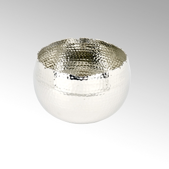 Dino large hammered bowl alu-nickel plated D18