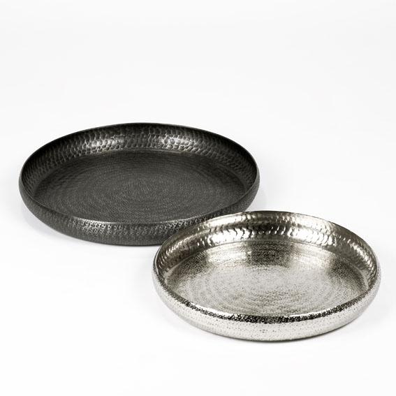 Faro tray/bowl aluminium nickel-plated