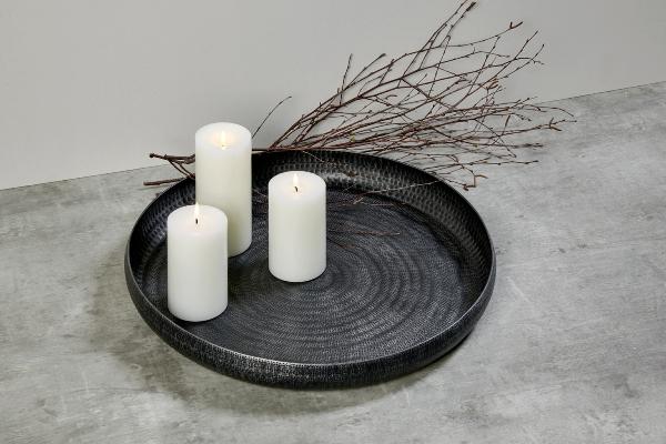 Faro tray/bowl aluminium graphite patina